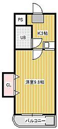 サンウィング新松戸2[1階]の間取り