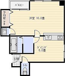 ラディファンス[1階]の間取り