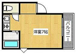 大阪府高槻市登美の里町の賃貸アパートの間取り