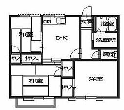 メゾン福田[2階]の間取り