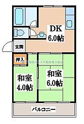 塚口マンション[4階]の間取り