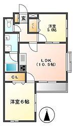 MELLOW HILLS[1階]の間取り