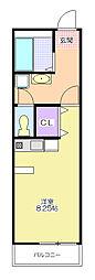 S Clail[2階]の間取り