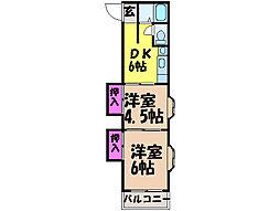 愛媛県松山市空港通3丁目の賃貸マンションの間取り