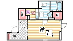 ヴィラ・サヤマIII[1階]の間取り