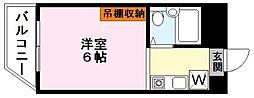 家電付ソレイユヤマダ[6階]の間取り
