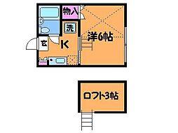 コーポM3[1階]の間取り