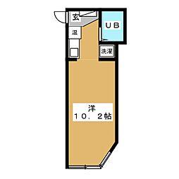 青年楼[3階]の間取り