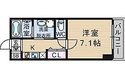 スワンズ難波パークビュー[6階]の間取り
