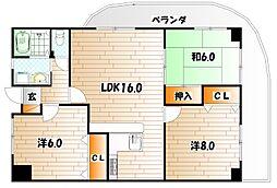 ラクシャリー八重洲[3階]の間取り