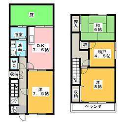 [テラスハウス] 愛知県半田市柊町5丁目 の賃貸【/】の間取り