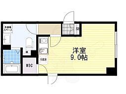 FABRIC菊川 2階ワンルームの間取り