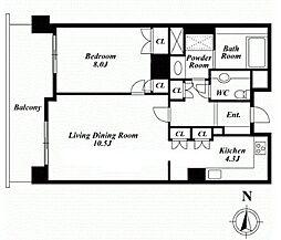 フレア西麻布[3階]の間取り
