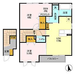 アマービレ マユミ[2階]の間取り