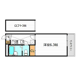 大阪府大阪市住之江区御崎8丁目の賃貸マンションの間取り