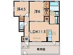 コニファーII[1階]の間取り
