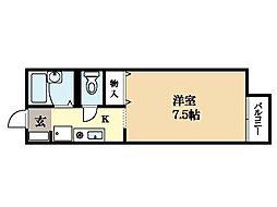 セジュール砂田[2階]の間取り
