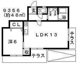 羽曳野ローズマンション[102号室号室]の間取り