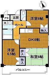美サイレントマンション2[4階]の間取り