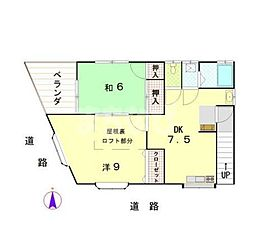 東京都江戸川区西瑞江3丁目の賃貸アパートの間取り