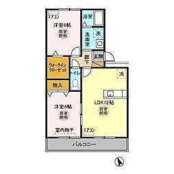 レジデンス・Sasou[302号室]の間取り