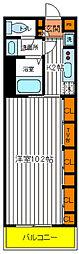 東京都立川市富士見町5丁目の賃貸マンションの間取り