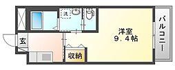 岡山電気軌道清輝橋線 清輝橋駅 徒歩35分の賃貸マンション 1階1Kの間取り