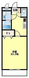 愛知県豊田市平戸橋町石平の賃貸アパートの間取り