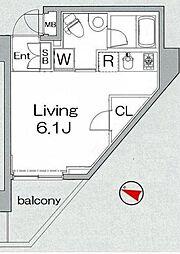 グランヴァン板橋本町II[3階]の間取り