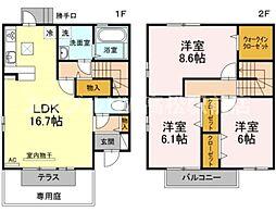 [テラスハウス] 香川県高松市太田下町 の賃貸【/】の間取り