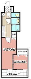 デザイナープリンセス77[703号室]の間取り