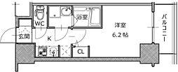大阪府大阪市西区南堀江2丁目の賃貸マンションの間取り