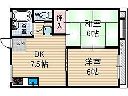 二階堂ハイツA棟[2階]の間取り