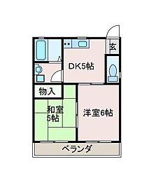 東京都町田市高ヶ坂2丁目の賃貸マンションの間取り