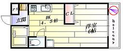 マインハイム[2階]の間取り