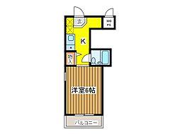 東京都府中市白糸台5丁目の賃貸マンションの間取り