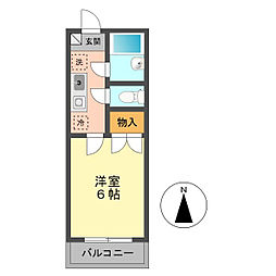 東京都江戸川区上篠崎3丁目の賃貸マンションの間取り