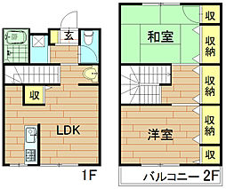 [テラスハウス] 神奈川県川崎市中原区中丸子 の賃貸【/】の間取り