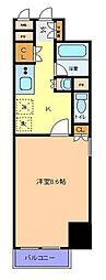 仙台市営南北線 仙台駅 徒歩8分の賃貸マンション 5階1Kの間取り