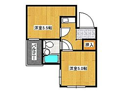 兵庫県神戸市東灘区青木3丁目の賃貸マンションの間取り