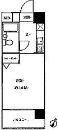 ロザール東千葉[5階]の間取り