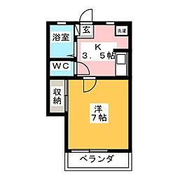 メゾン奥野[1階]の間取り