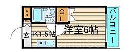 プレアール堺東II[4階]の間取り