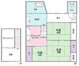 赤川4-17-26 貸家 3DKの間取り