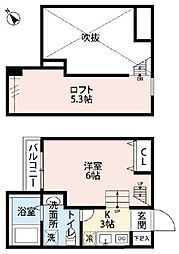 神奈川県相模原市南区相模台2丁目の賃貸アパートの間取り