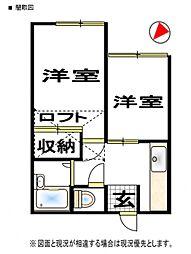 ロマンス上福岡[2階]の間取り