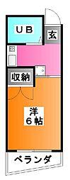 東京都北区赤羽西4の賃貸マンションの間取り