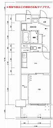 西鈴蘭台シティコート[9階]の間取り