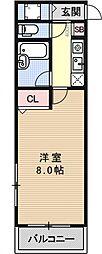 インペリアル御池[402号室号室]の間取り