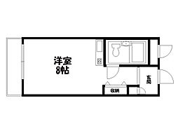 グランデ西京極[1階]の間取り